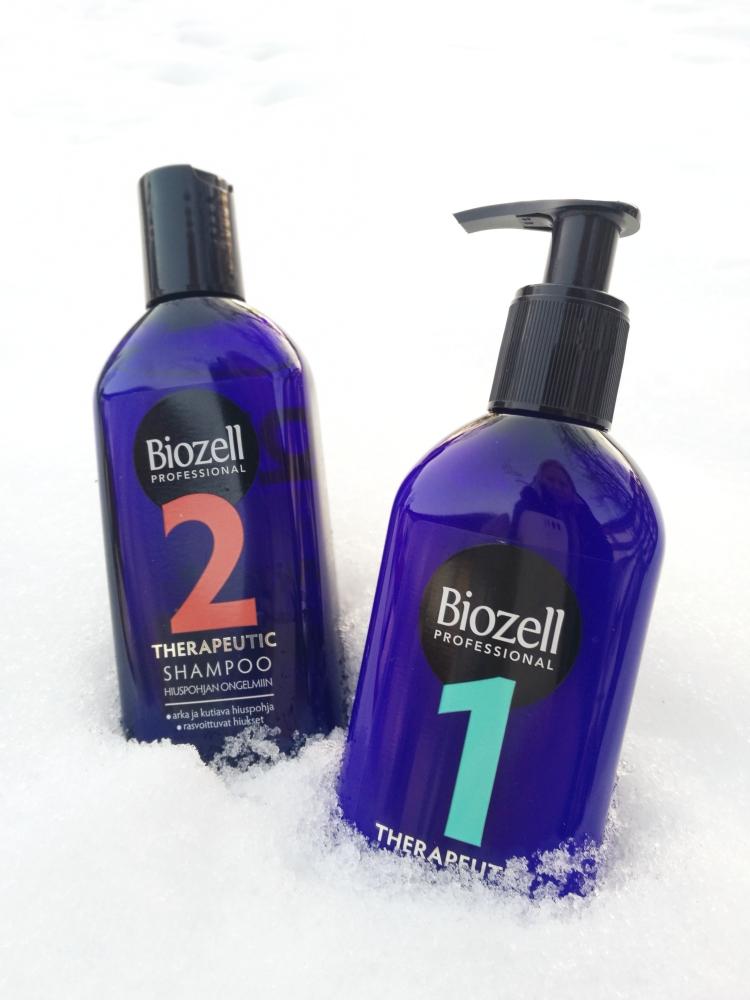 Biozell Therapeutic shampoo ja öljyhoito.jpg