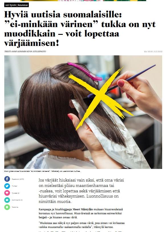 Trendi: Luonnolliset hiukset