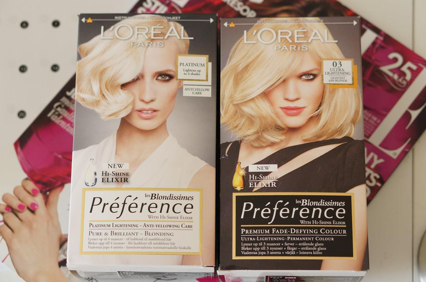 Väriä kutreille: L'oréal Préférence Les Blondissimes 03 Lightest Ash Blonde