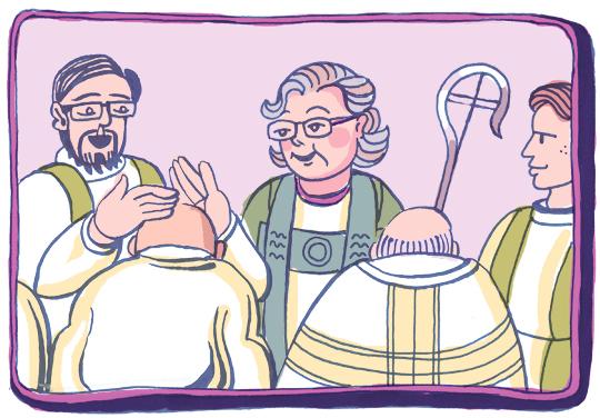 Piispa siunasi miesparin