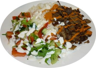 Kebab riisillä