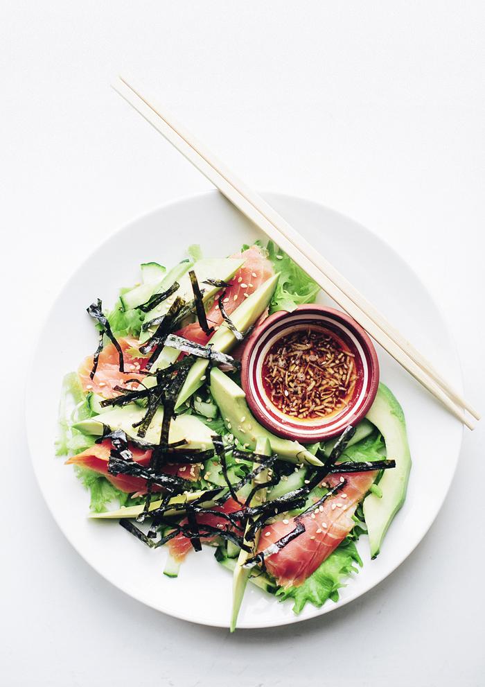 Laiskurin salaatti / Sushi salad