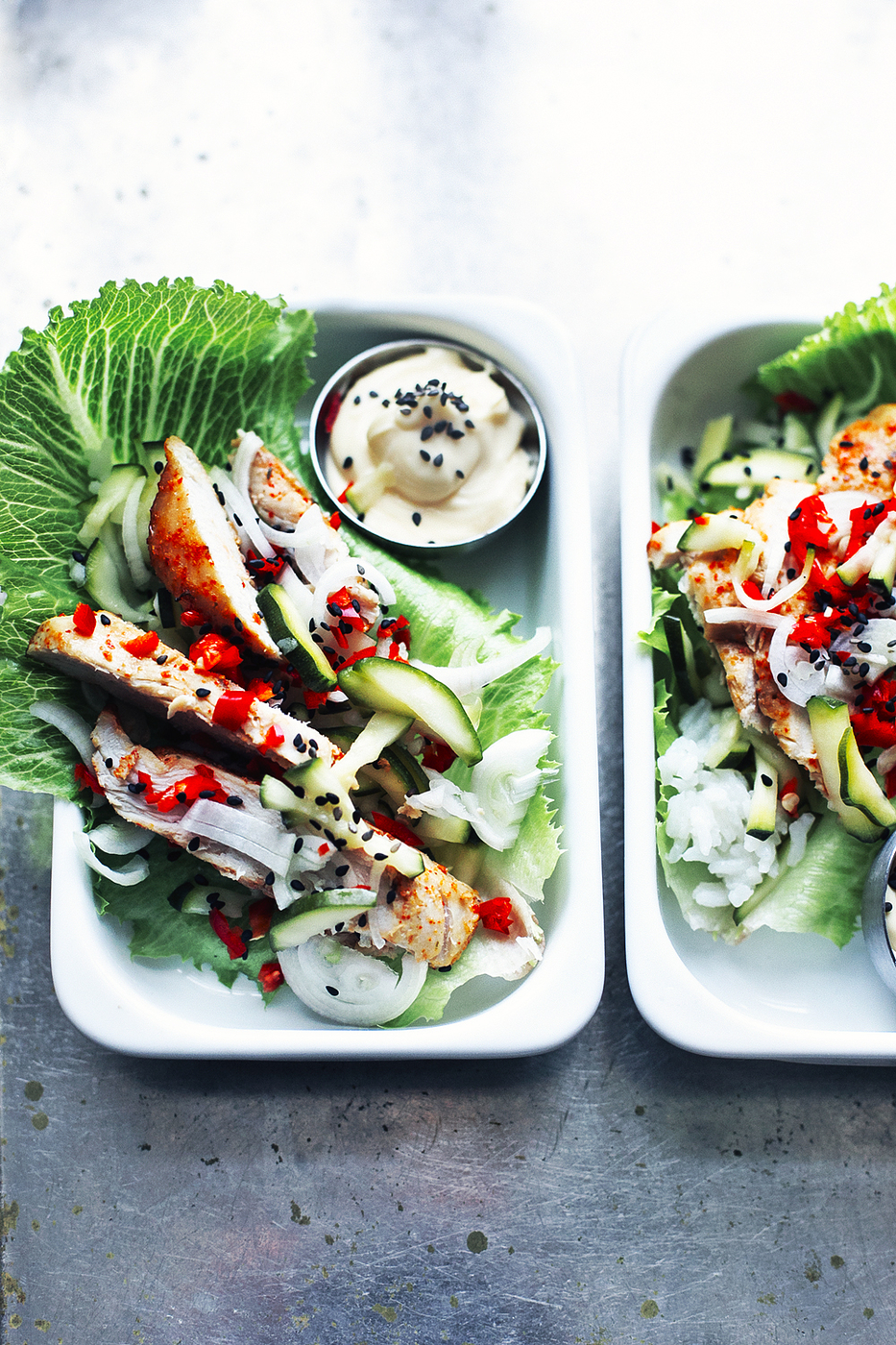Koreatyyliset salaattiwrapit / Korean salad wraps