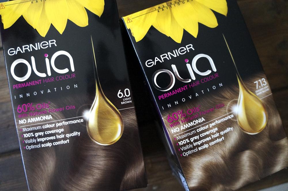 Testissä Garnier Olia -hiusväri