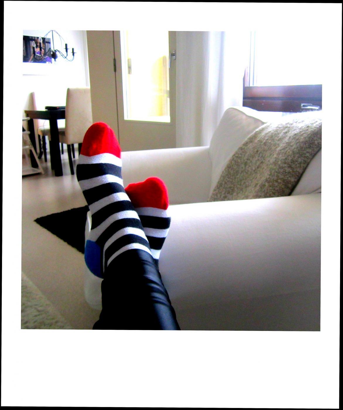 Olen iloinen sukkiani myöten