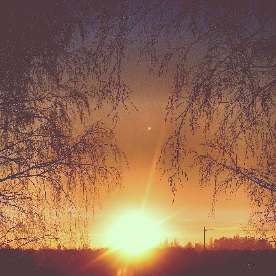 Ainola auringonlaskussa