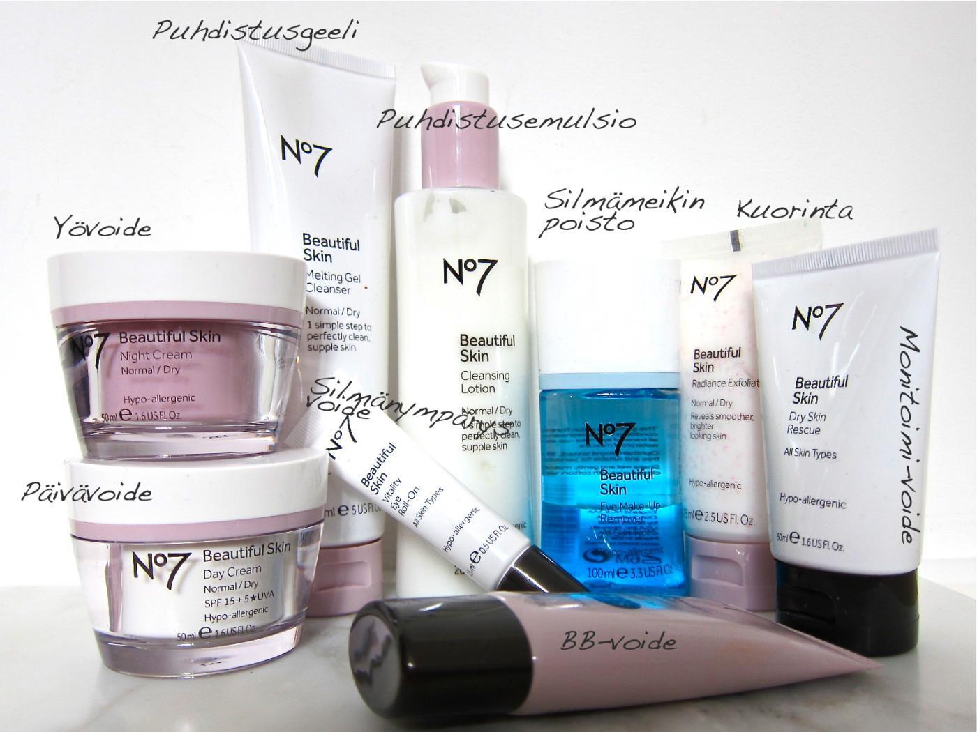 No7 Beautiful Skin -ihan uusi ihonhoitosarja ja arvonta!