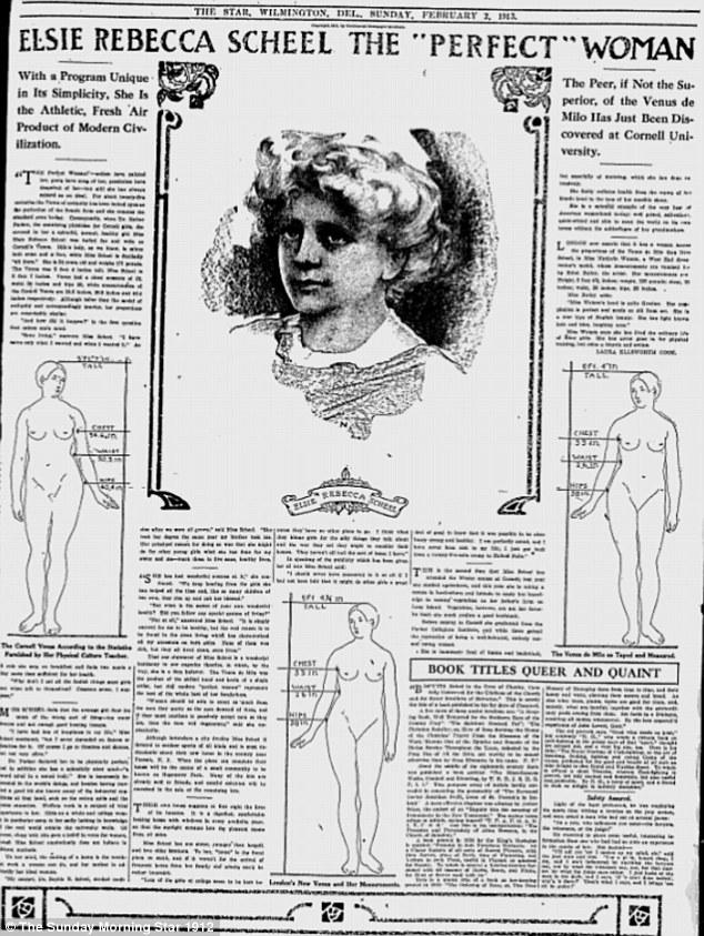 Täydellinen nainen vuonna 1912