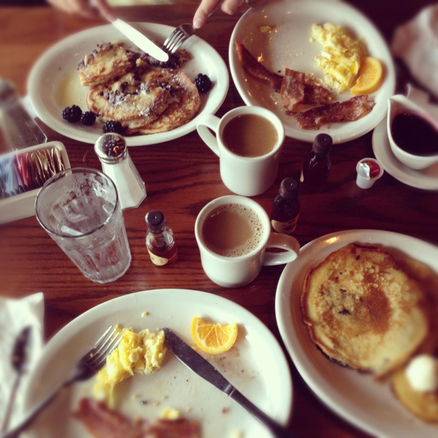 Breakfast on the road