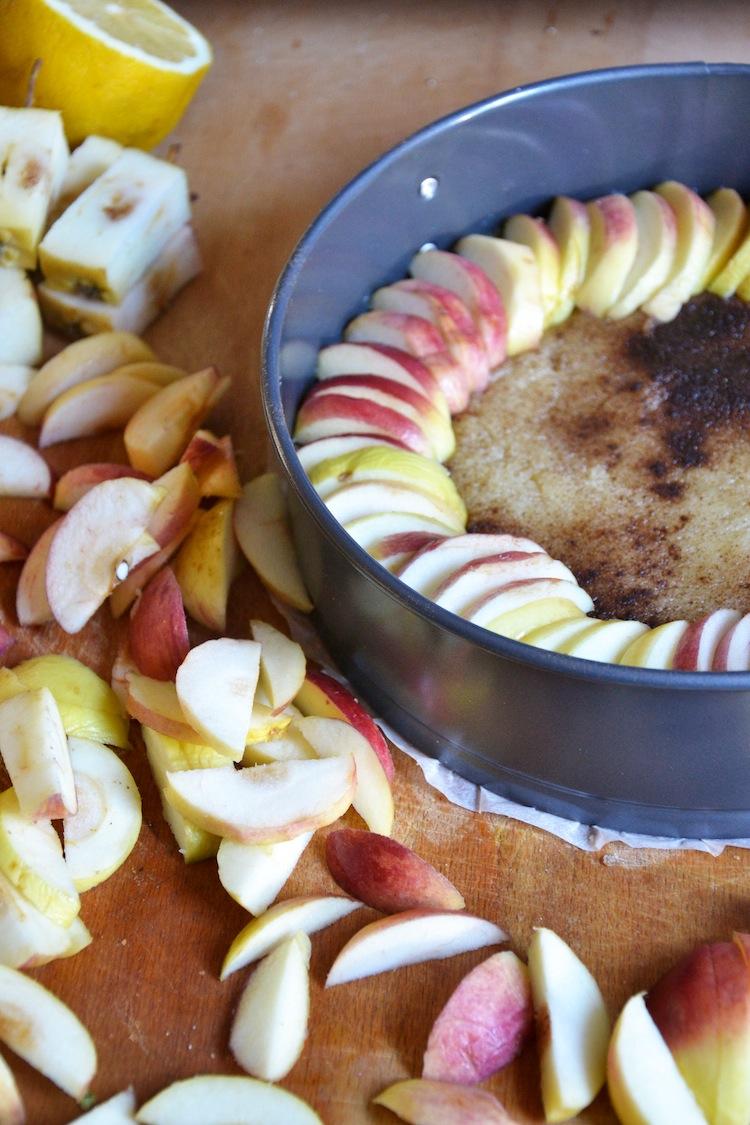 Viskipiirakkaa ruttuisista omenoista