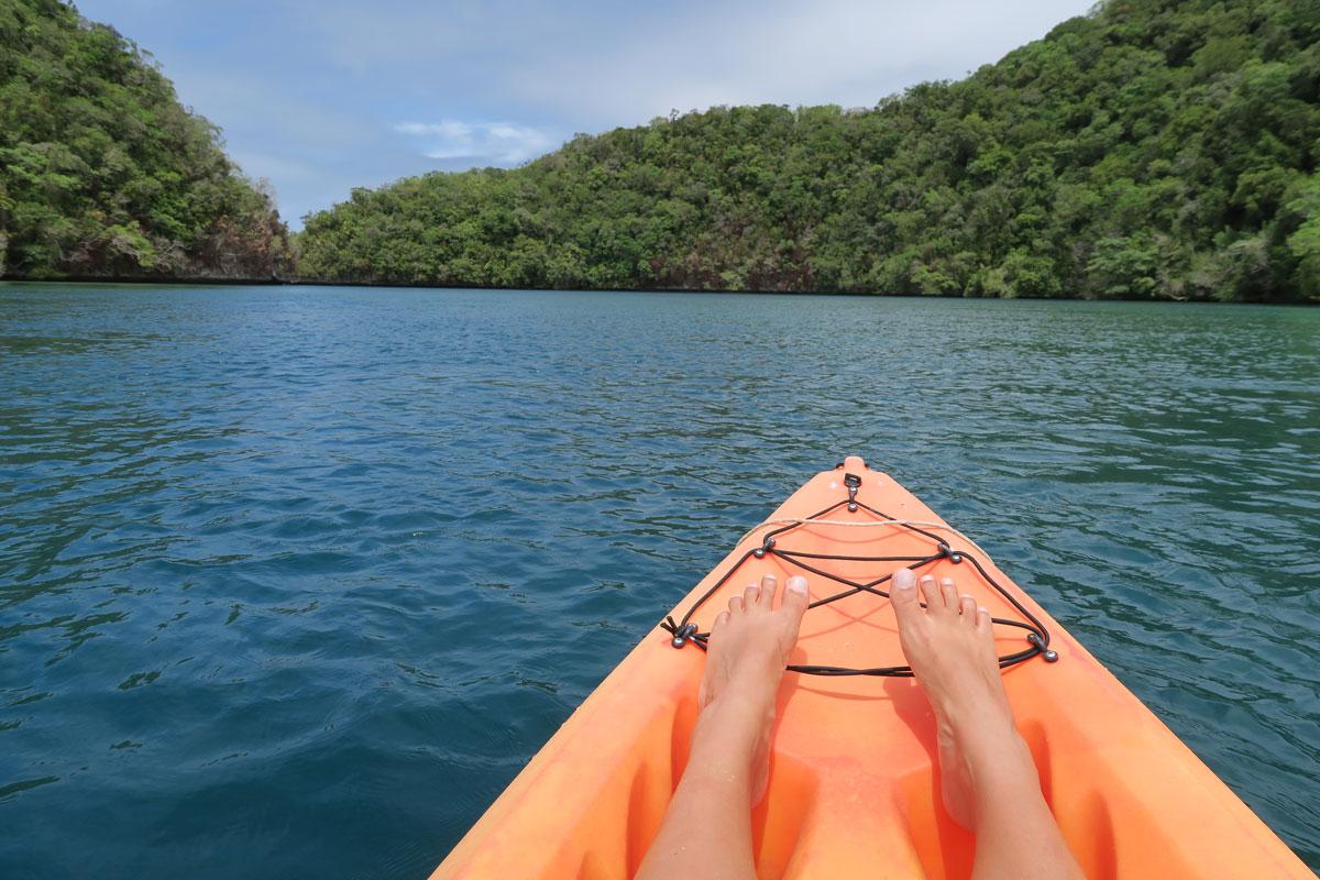 Kajakkireissu Palaun kauniissa maisemissa