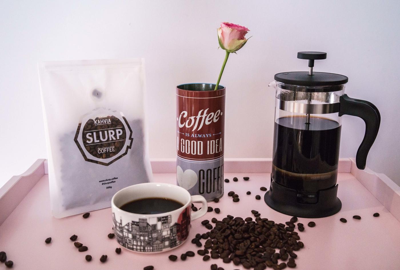 Slurp – kahvia kotiovelle (postaus sisältää alekoodin)
