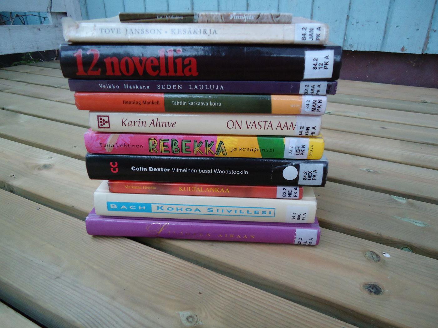 Lukumaraton kirjat valittuna