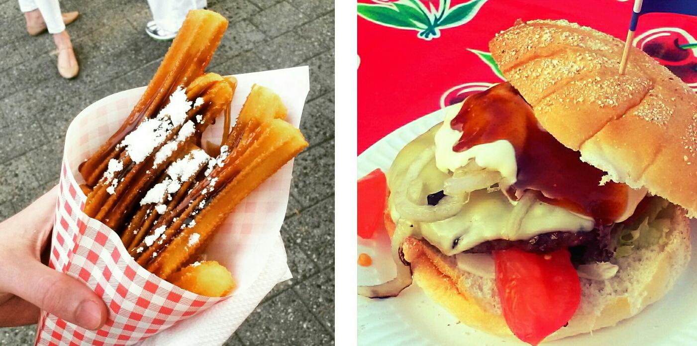 Churros, burgers, street food