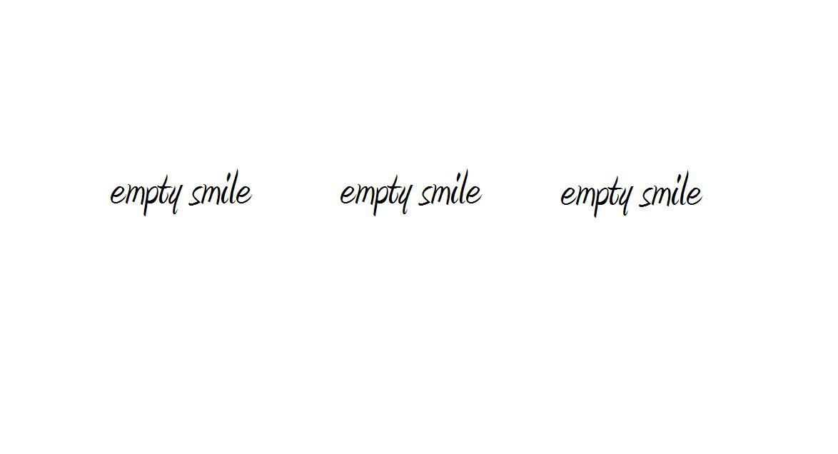empty smile