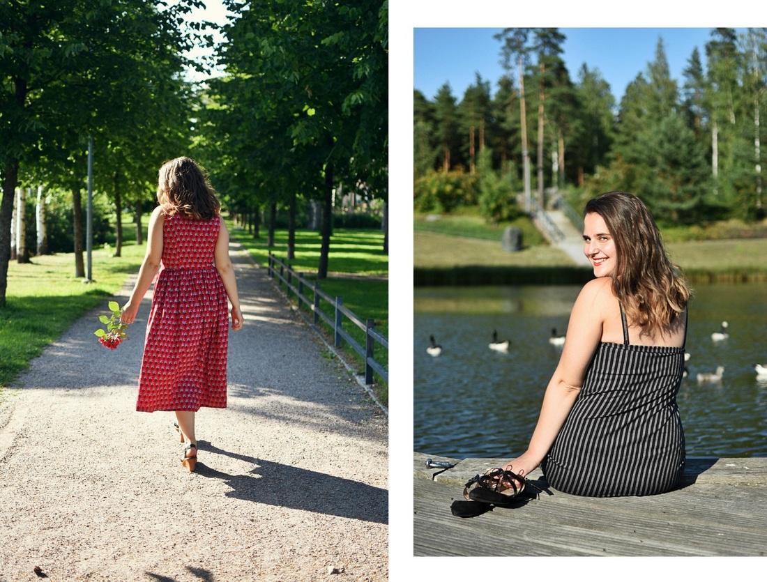 2 x ajaton ja vastuullinen mekko vuoden ympäri