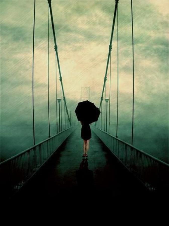 Sateen ääni sillalla