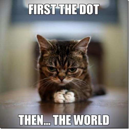 First the dot – then the world.