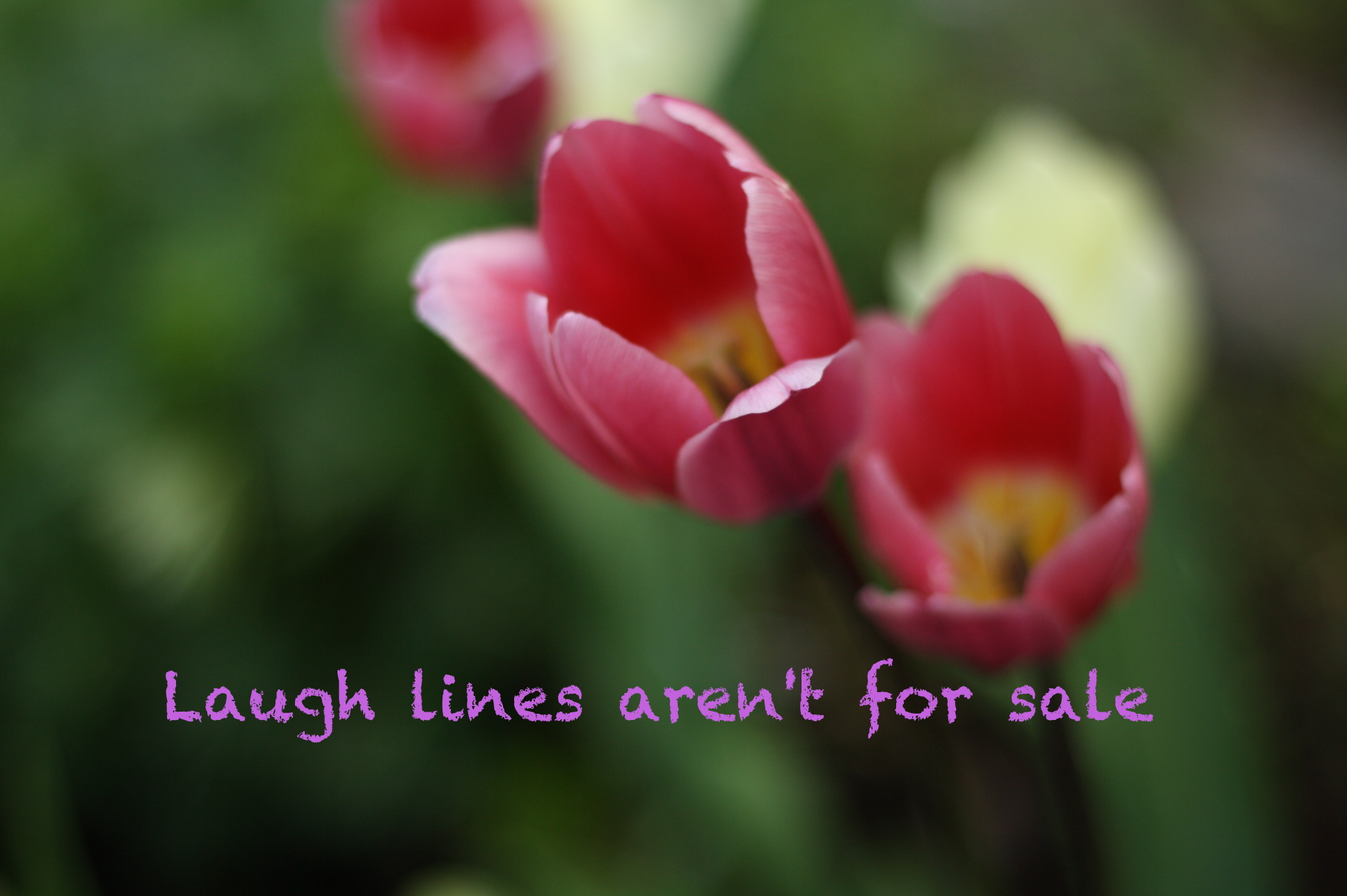 Laugh lines are not for sale
