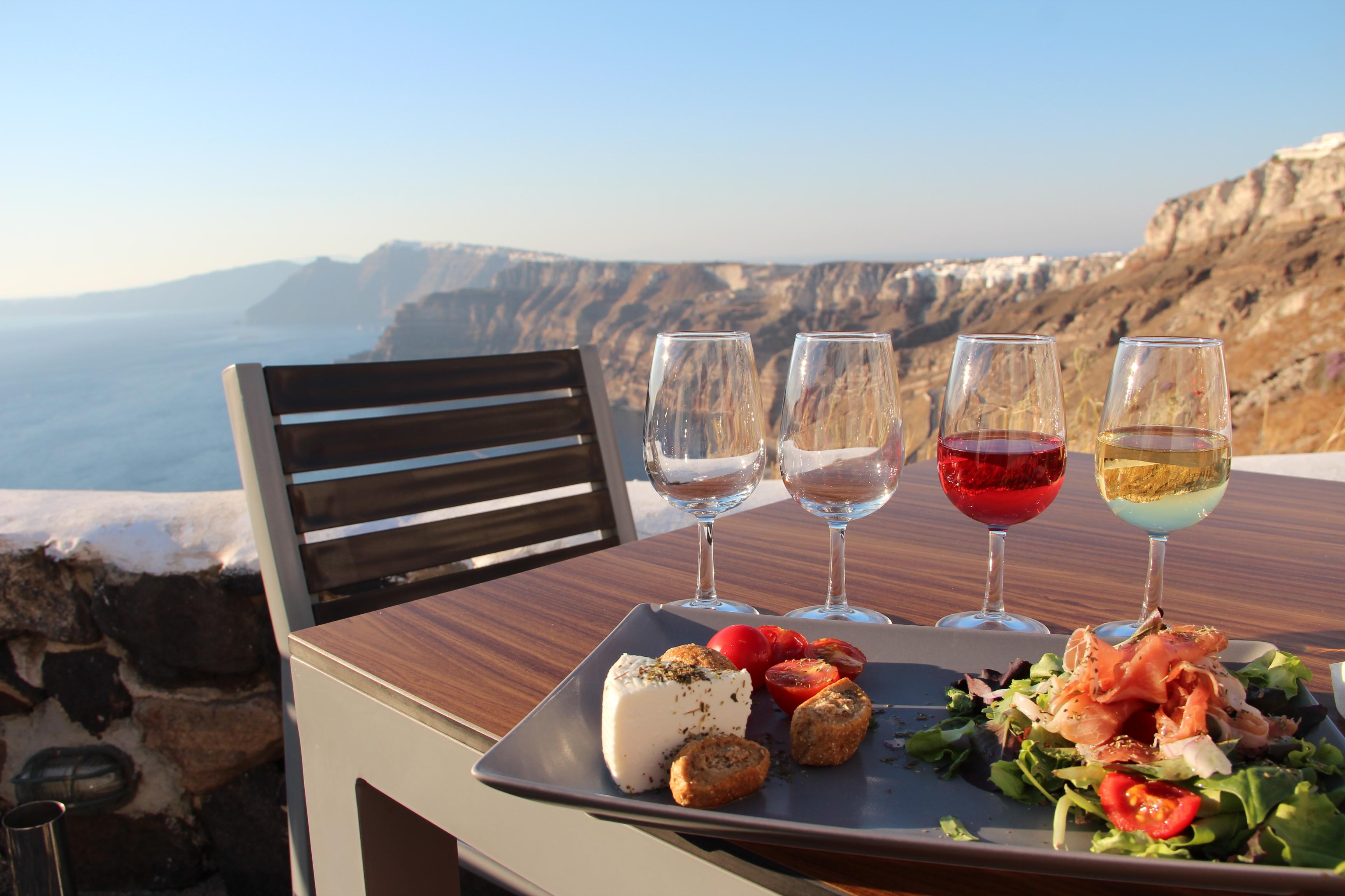 Santo Winery maistelumenu