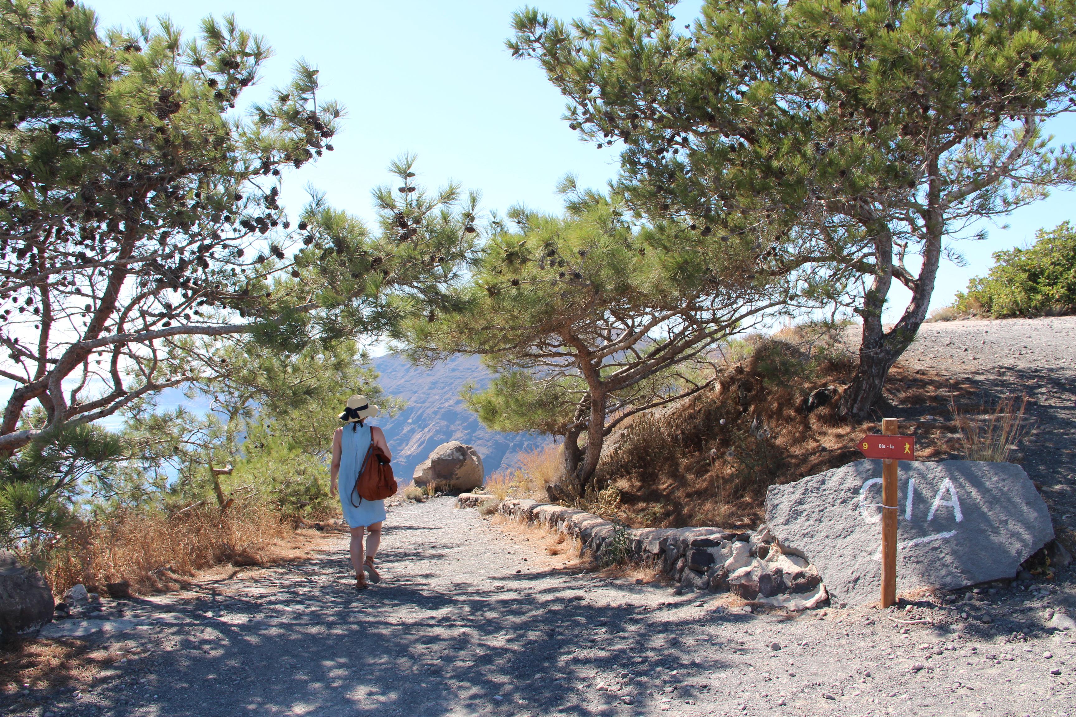 vaellus patikointi Oía Santorini