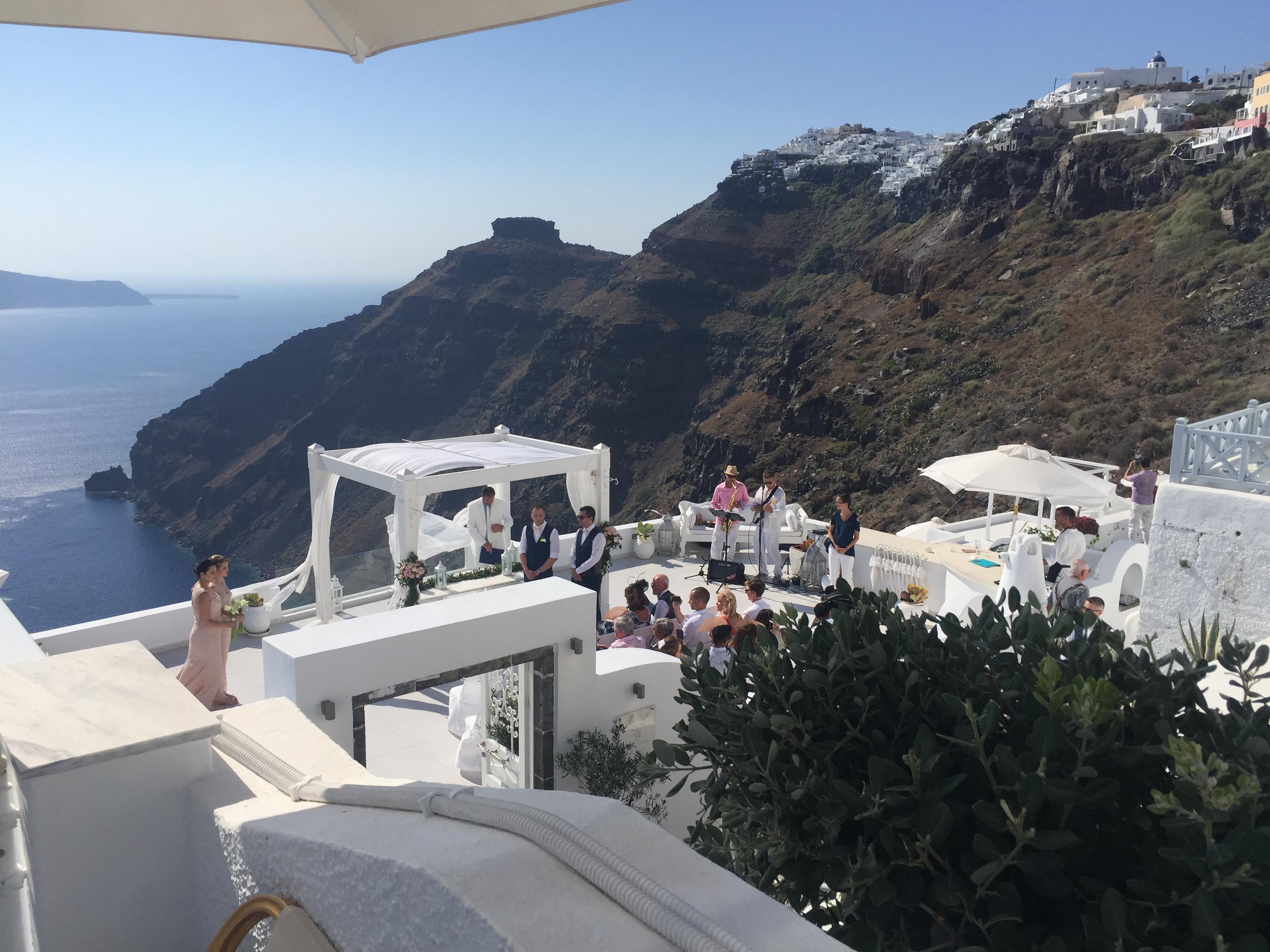 Häät Santorinilla