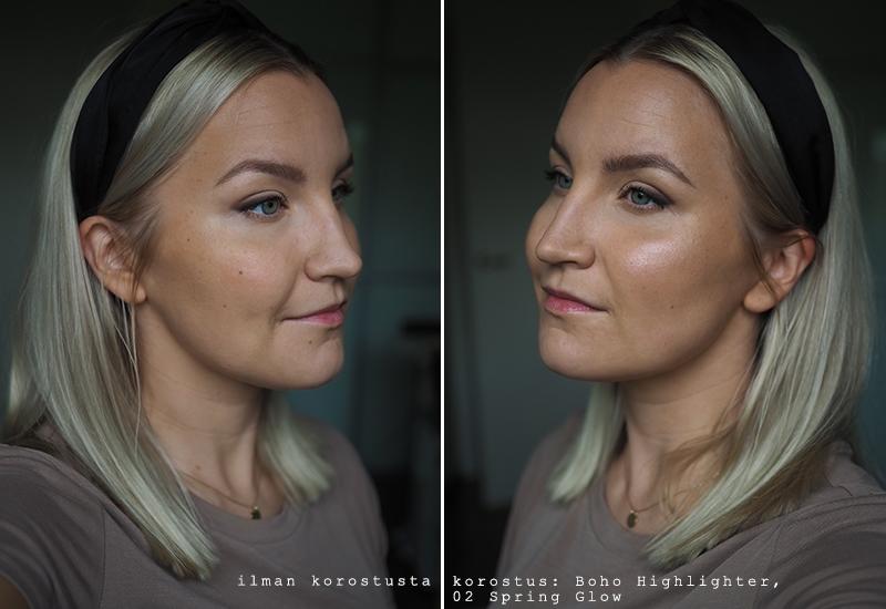 boho green makeup highlighter
