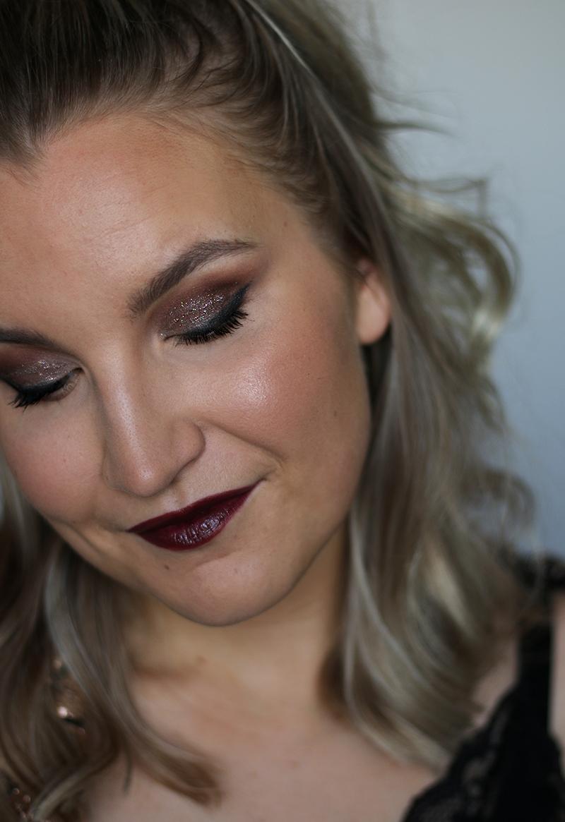 Helppo pikkujoulumeikki selektiivisellä kosmetiikalla + video