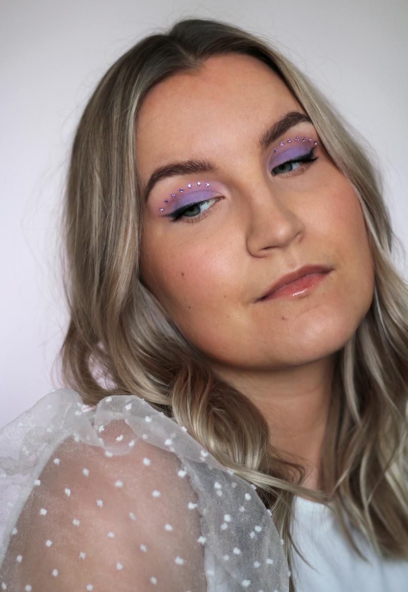 Päivän violetti kimallemeikki Euphorian inspiroimana + Instagram-video