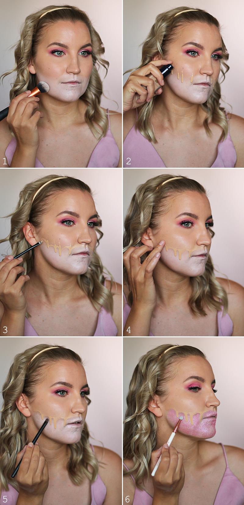 Tutorial: Glitter Halloween -meikki