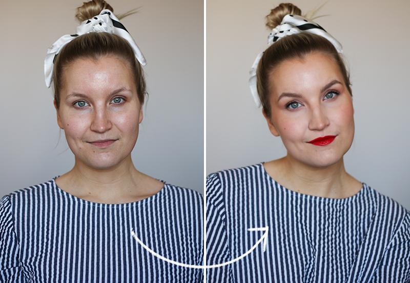 Koko meikki vain viidellä tuotteella
