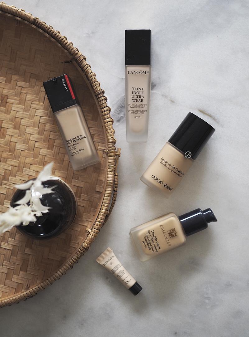 Suuri meikkivoidevertailu – 5 x luksusmeikkivoide vertailussa