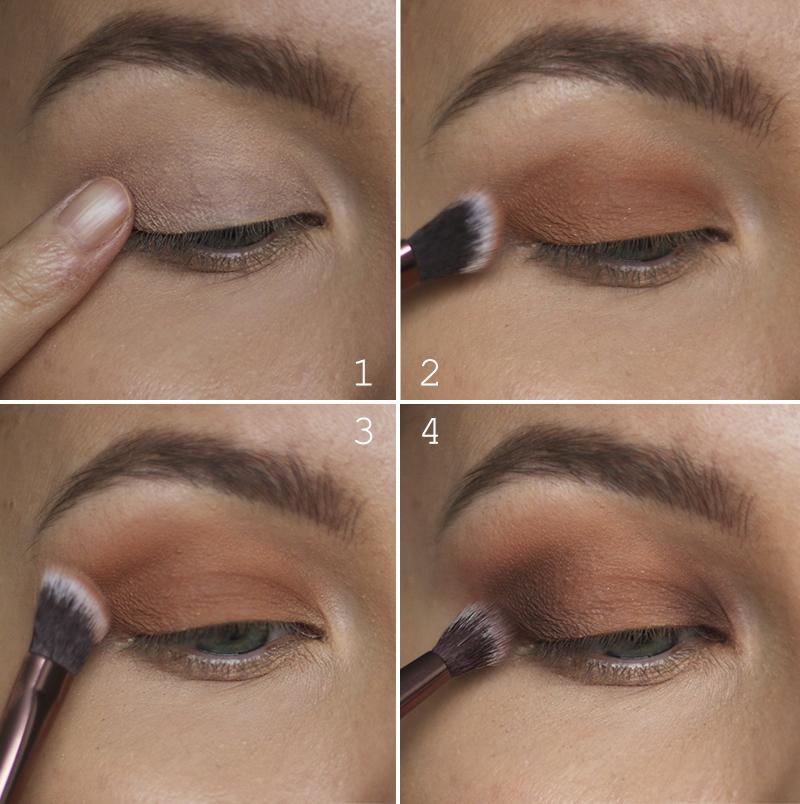 Tutorial: kimaltava persikkainen silmämeikki