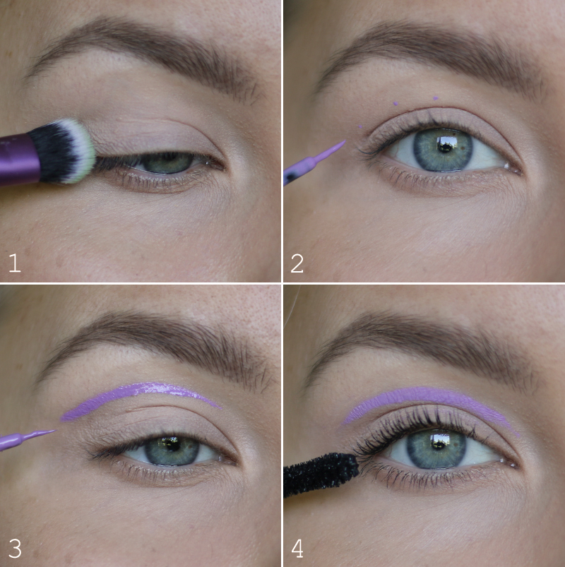 värikäs silmänrajaus