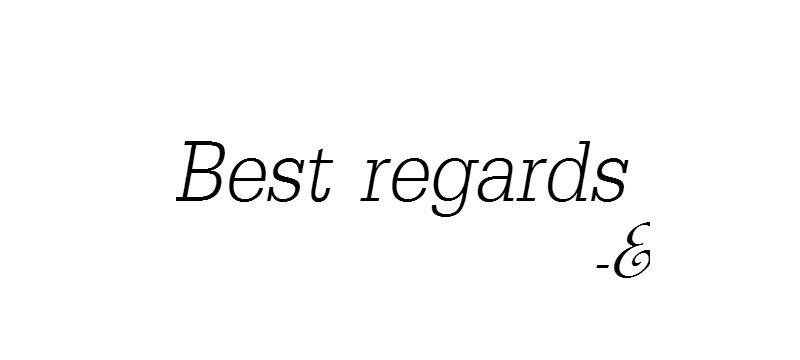 Best regards -E