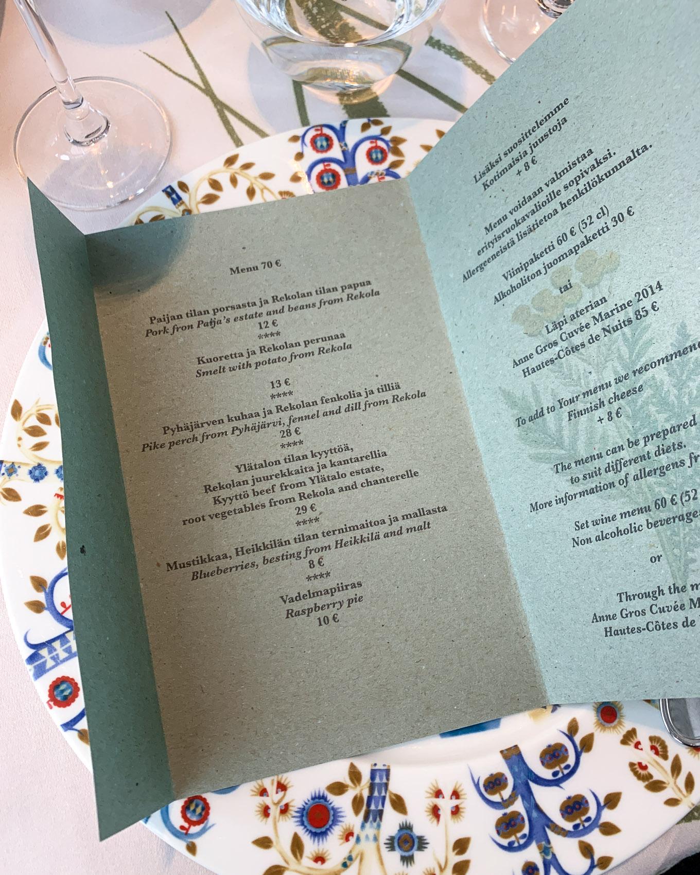 Ravintola C, fine diningia Tampereella
