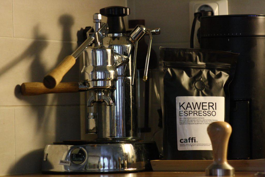 Espressokoneena La Pavoni Europiccola