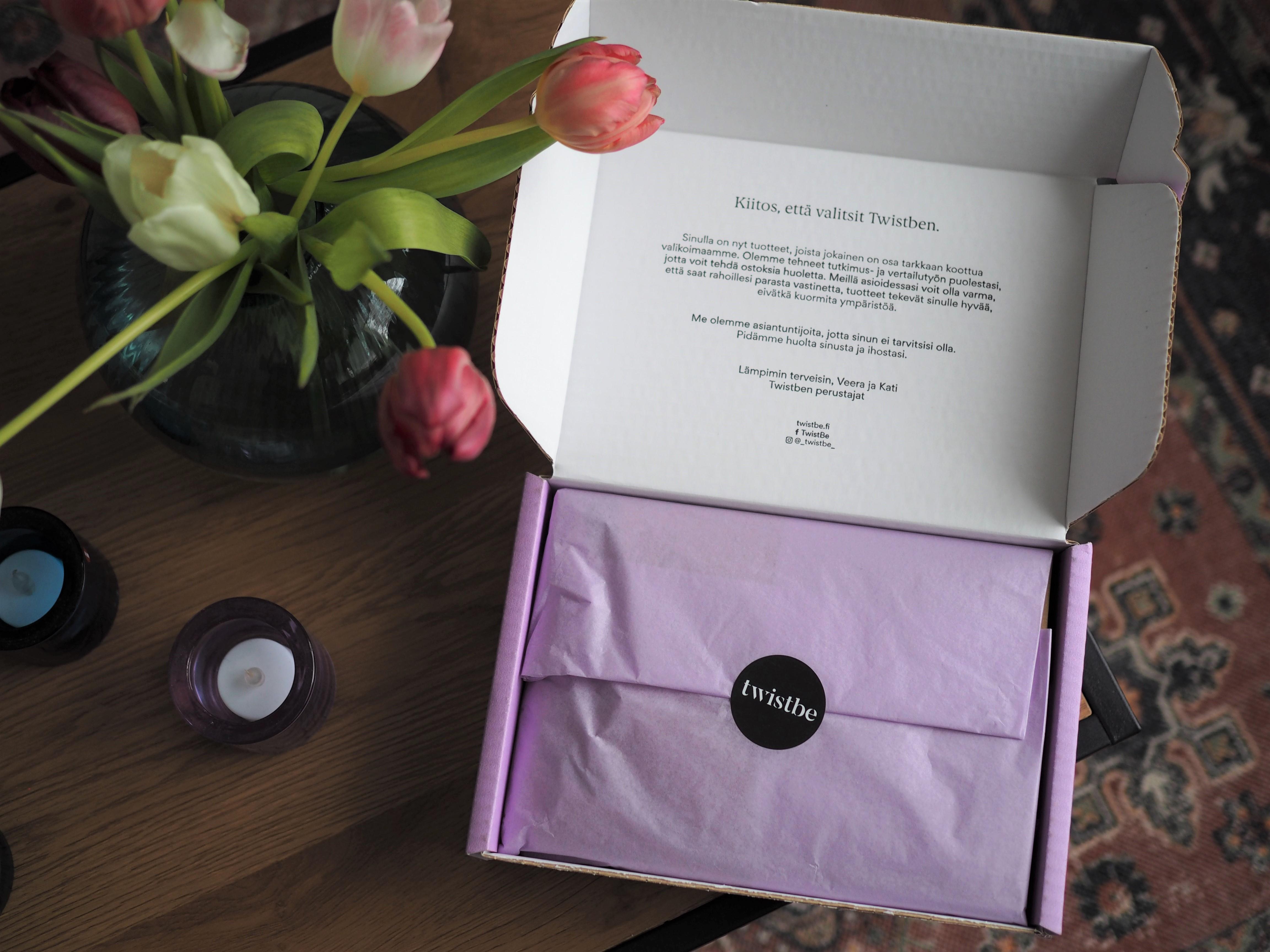 Twistbe Box on luonnonkosmetiikan ihonhoitoboxi (+ alekoodi)