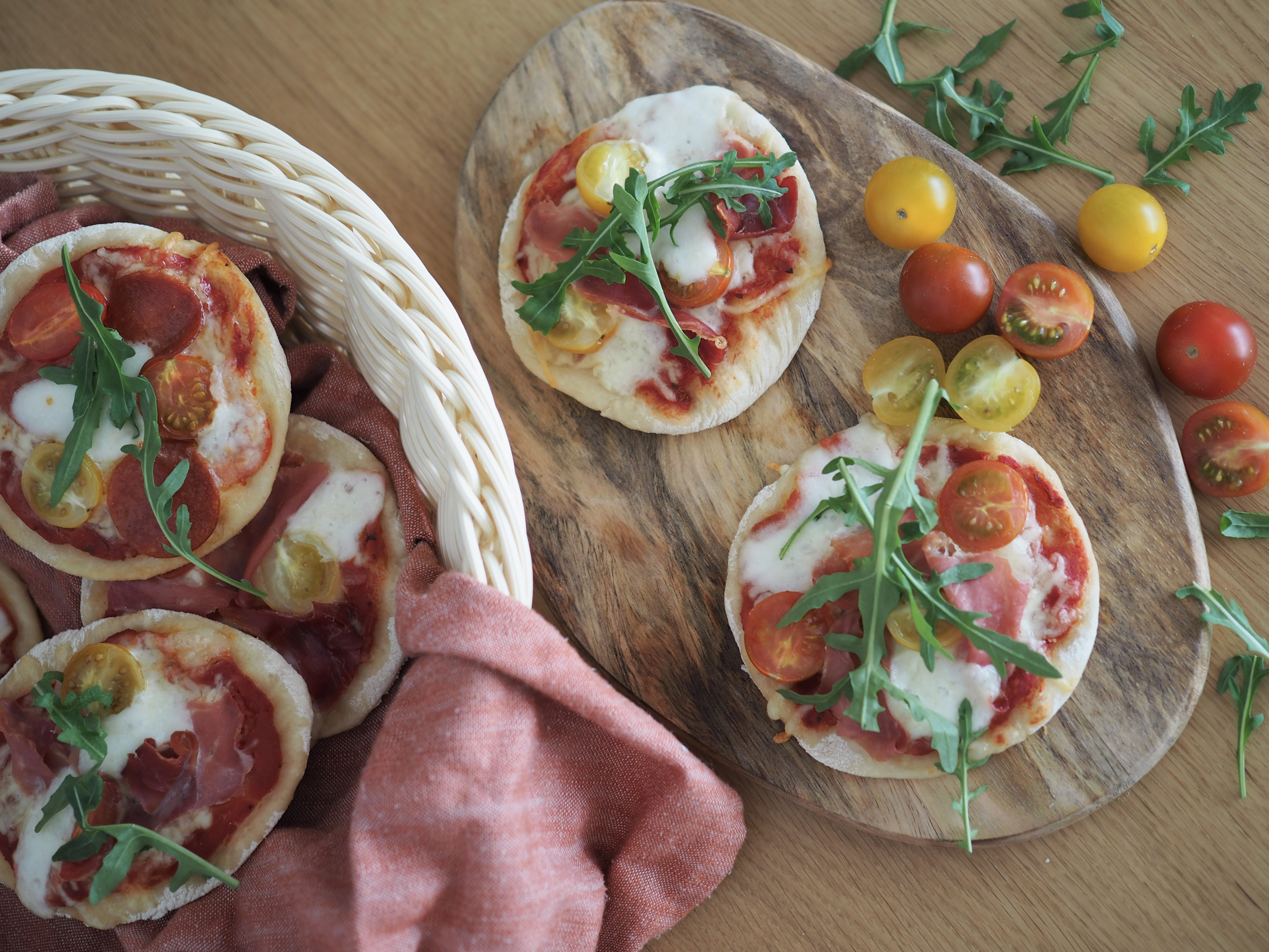 Helpot minipizzat vappupiknikille