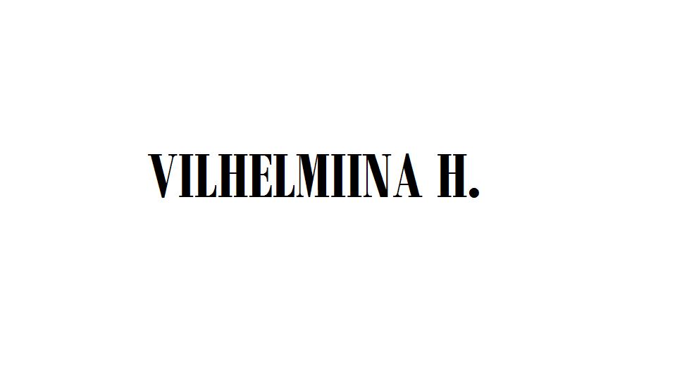 VILHELMIINA H.
