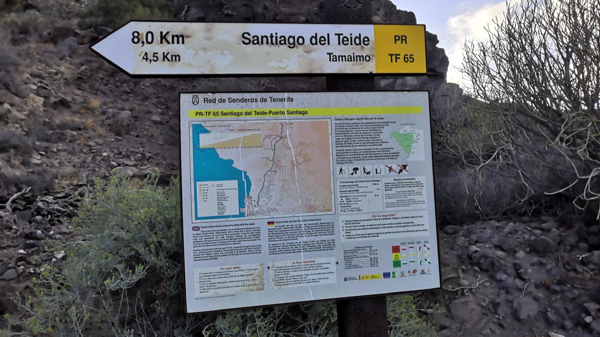 Polkujuoksua Teneriffalla – Puerto Santiagosta rengasreitille Guama – Tamaimo