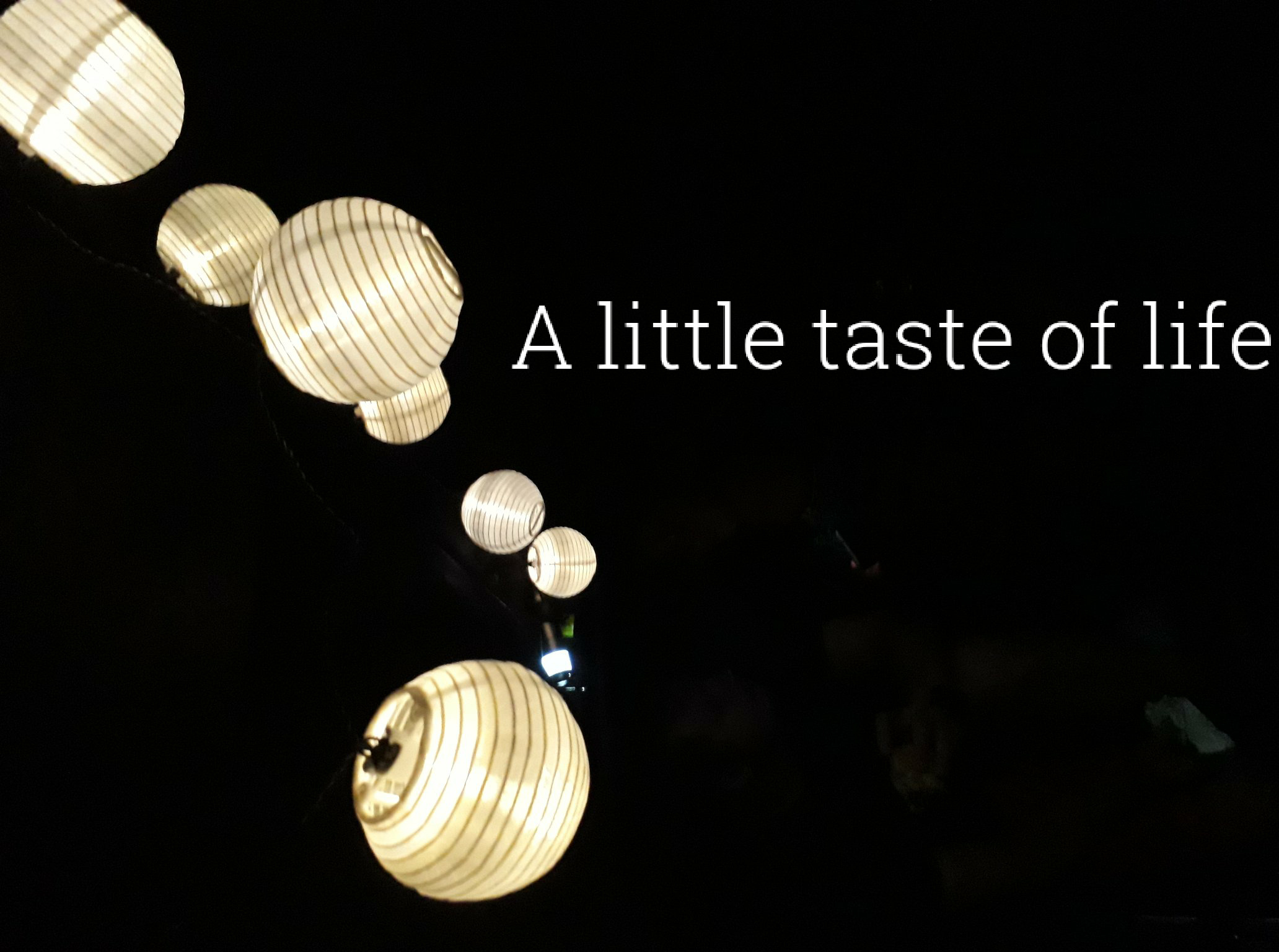 A little taste of life