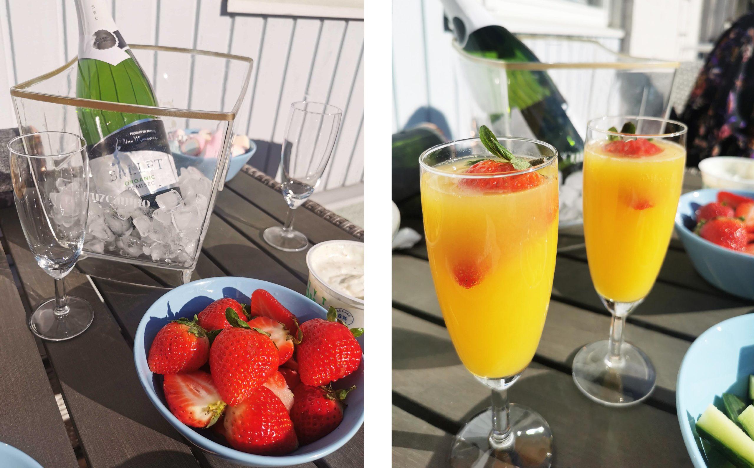 Terassipiknik ja mimosat 🍹