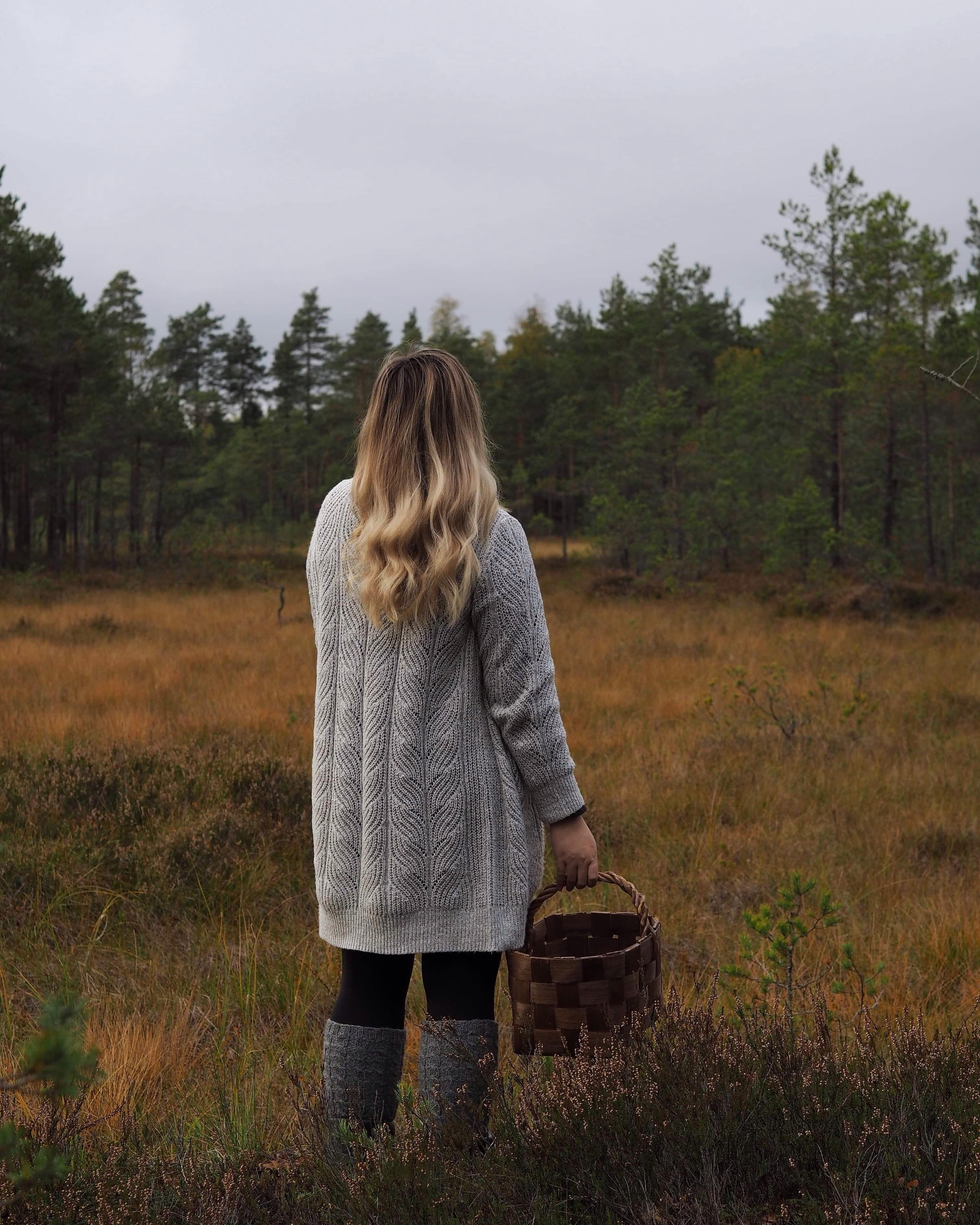 Syyskuu täynnä paksuja villaneuleita ja metsäretkiä