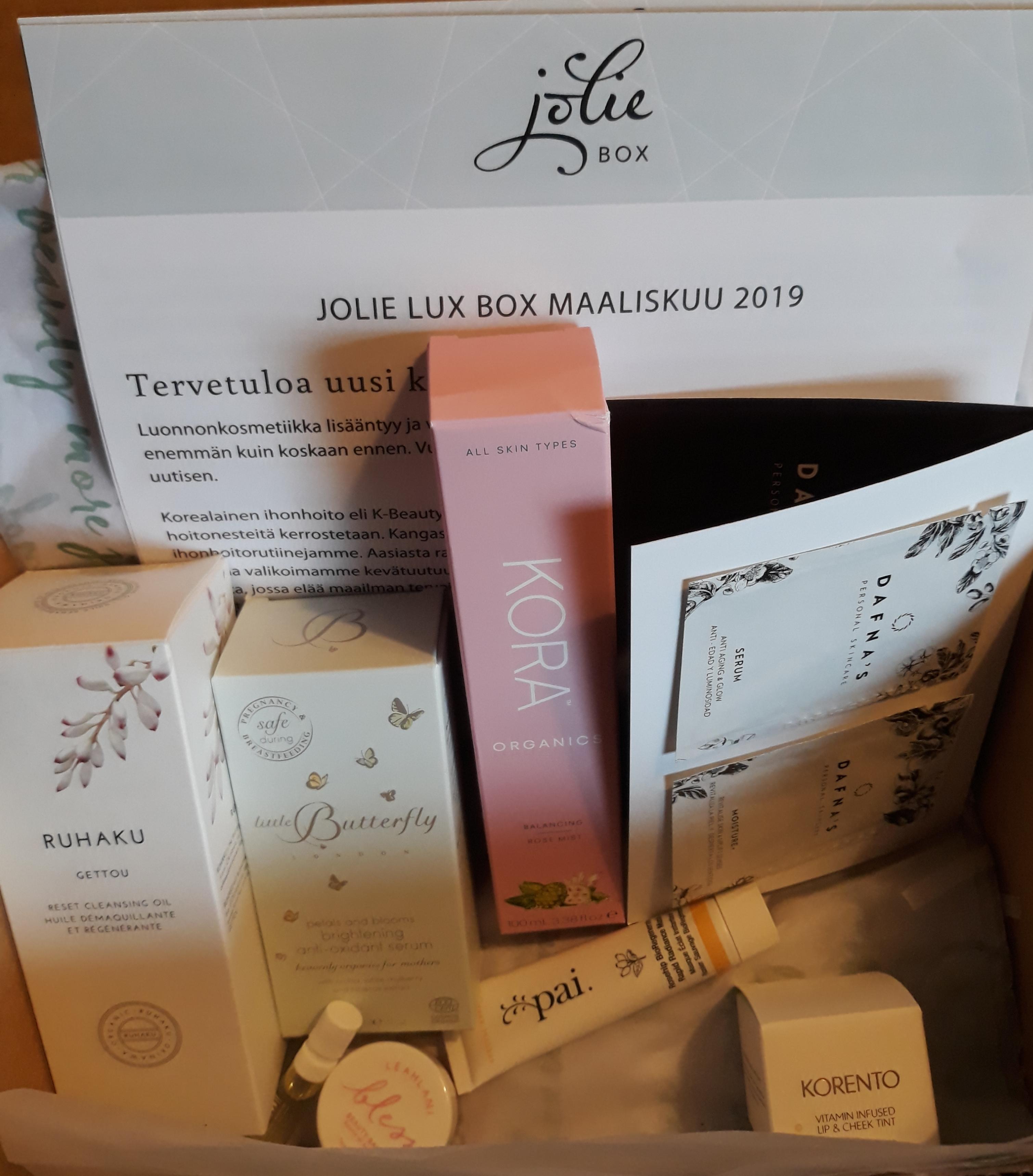 Jolie lux box maaliskuu 2019