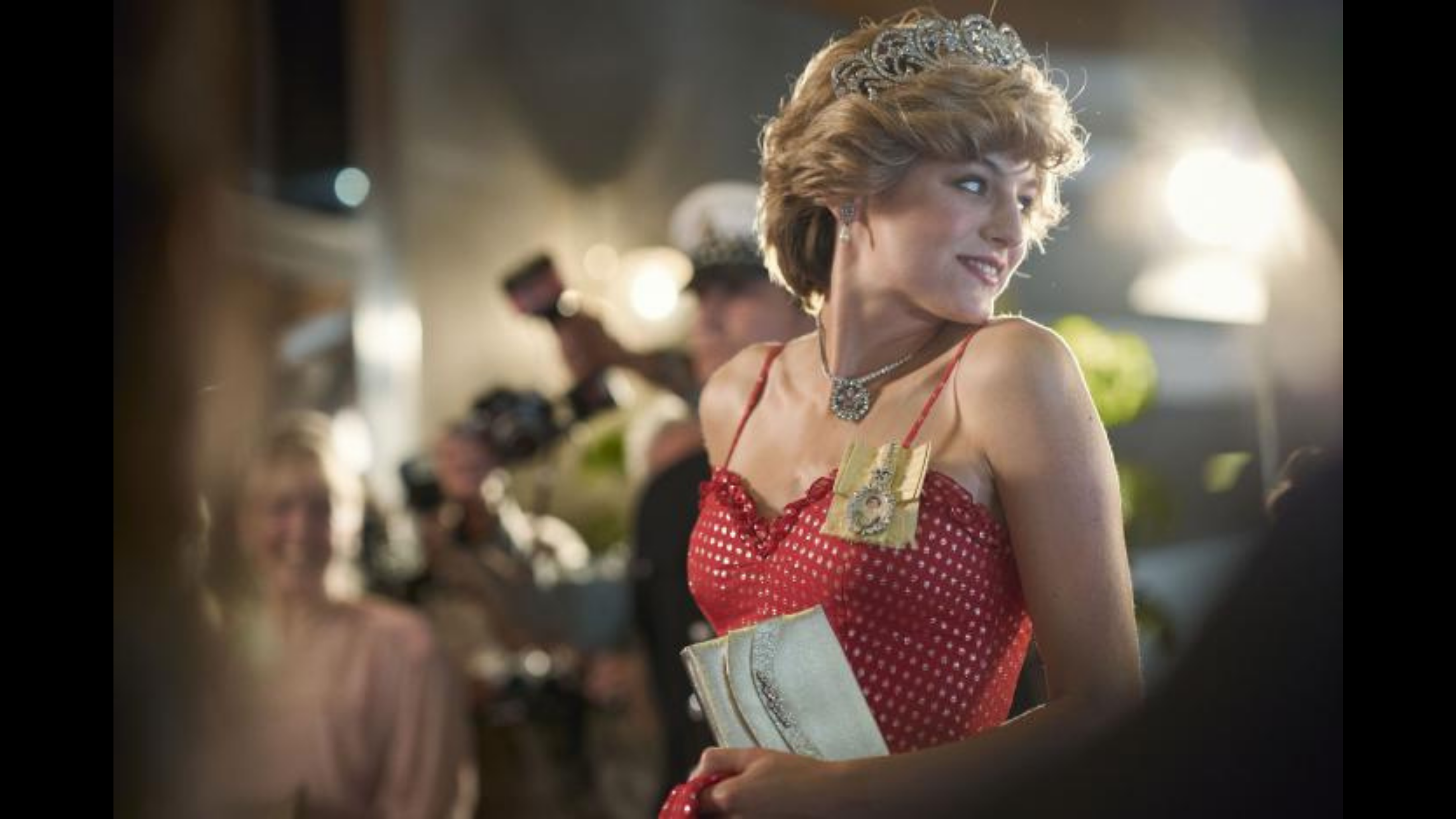 The Crown, Netflix, Emma Corrin as princess Diana.