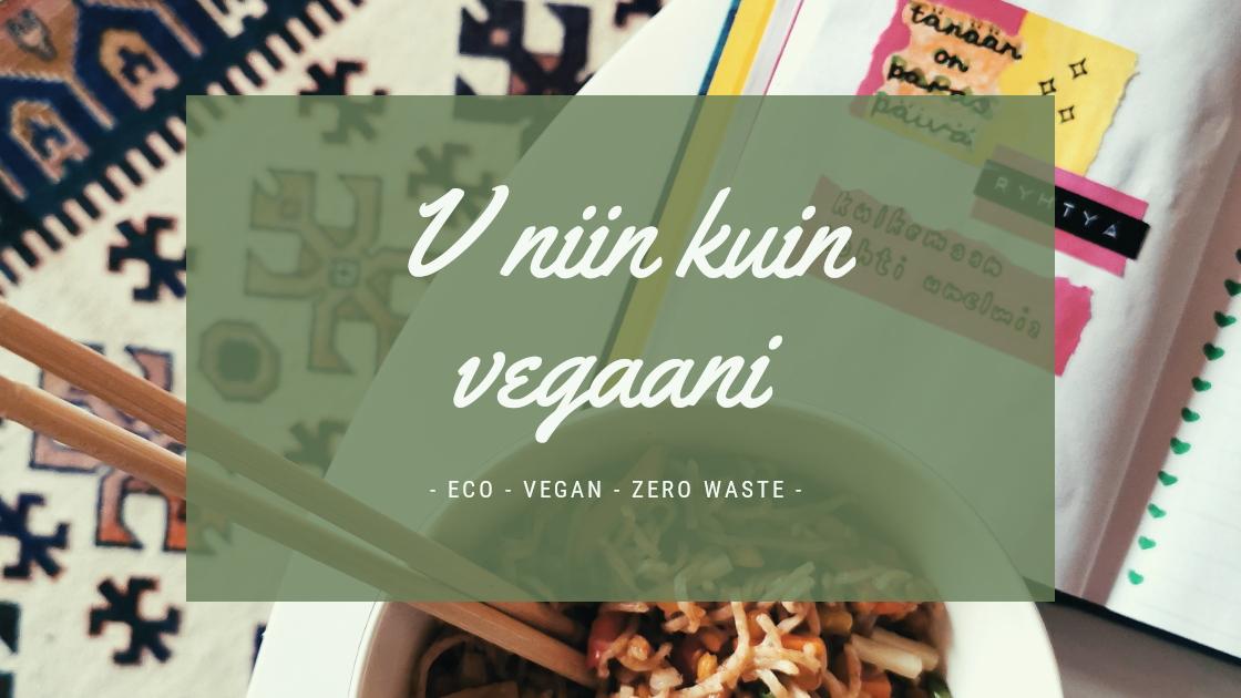 V niin kuin vegaani
