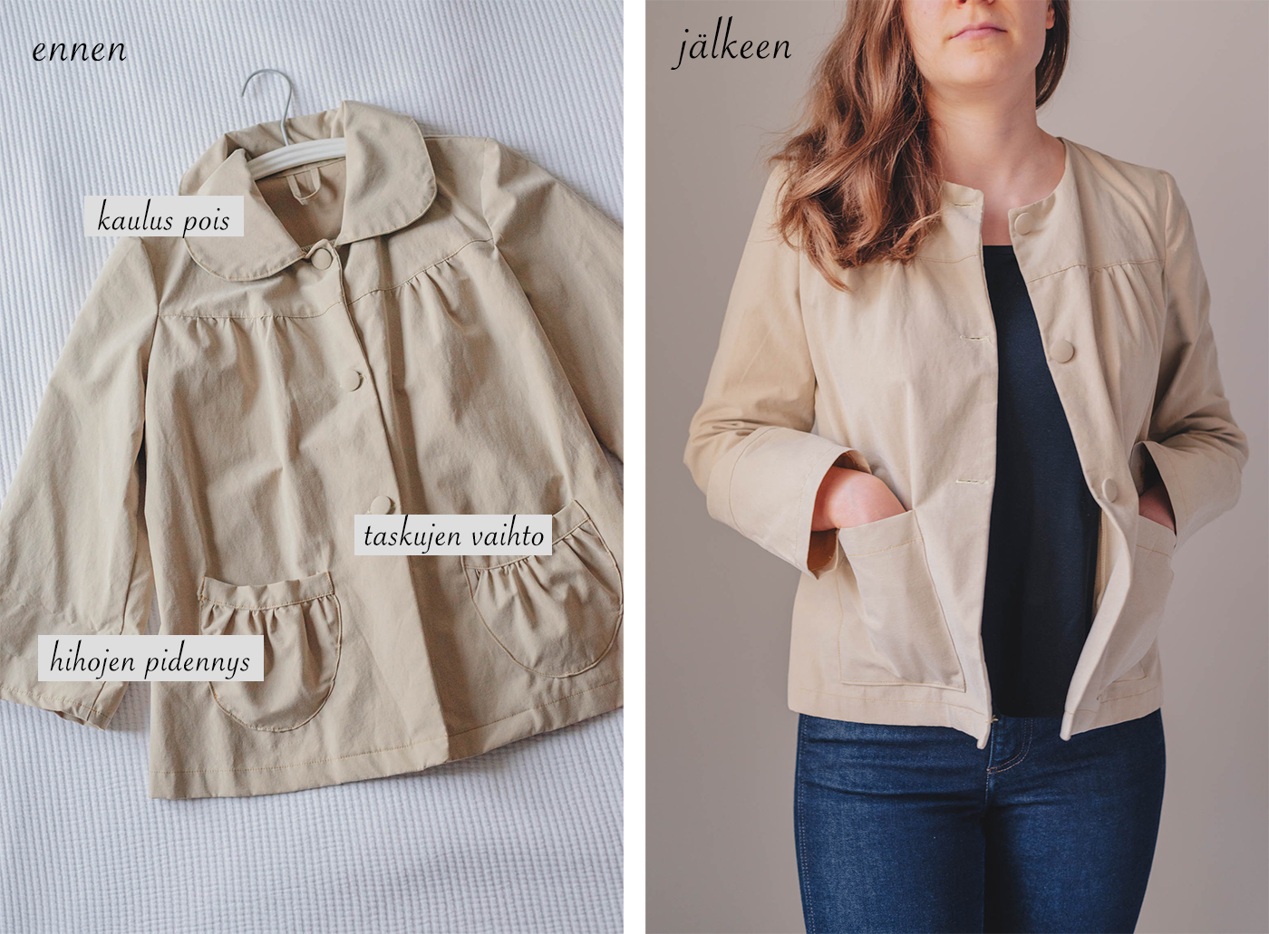 vaatteiden ompelu muokkaus vinkejä