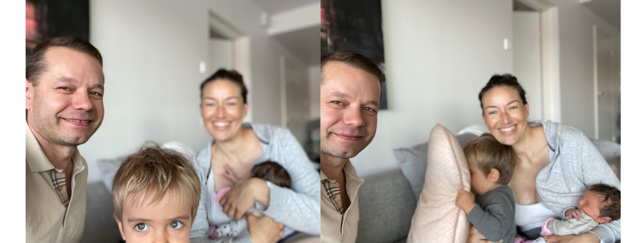 Ensimmäinen viikko kahden lapsen vanhempina