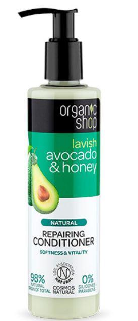 Testissä Organic Shop Avocado & Honey hoitoaine